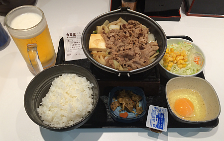 吉野家の「牛すき鍋膳」を株主優待券で食べてきました