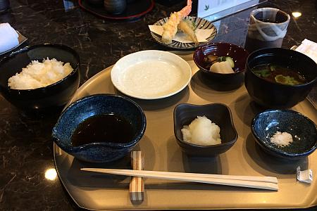 「天ぷら わかやま」吉祥寺店でランチに「日替わり天麩羅定食」をいただきました