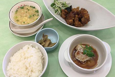 中国料理「點心茶室(てんしんちゃしつ)」吉祥寺店のランチで「おすすめセット」をいただく