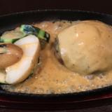 「吉祥寺バーグ」でバーニャカウダー付き Aセットのチーズハンバーグを締めのリゾットともに堪能
