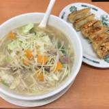 「日高屋 吉祥寺本町通店」でお約束の「野菜たっぷりタンメン」を餃子セットでいただく
