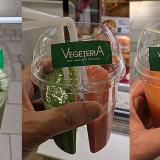 「ベジテリア(VEGETERIA)アトレ吉祥寺店」の「ツインベジ」で 2種類の野菜ジュースが楽しめる