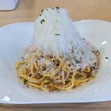 西友吉祥寺店 1階カフェ「nomuno(ノムノ)」で BIGOLI とのコラボ「熟成チーズボロネーゼ」をいただく